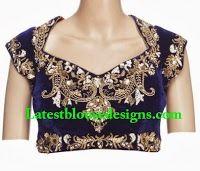Embellished Velvet Blouse