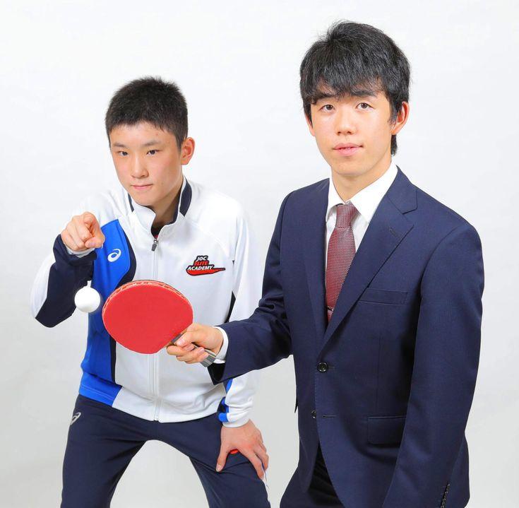 天才中学生、藤井聡太四段と張本智和が対談!「五輪で金メダル」「将棋界のトップに」