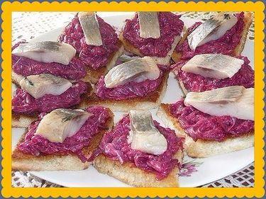 Бутерброды закусочные для праздничного стола