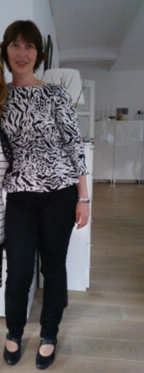 peplum top black&white party (patroon Knip, Maxima special)