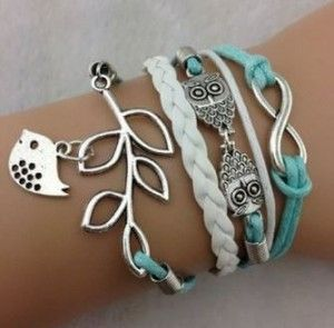 Ohh, I just love this Leather Rope Bracelet with Silver Owl, Infinity and Bird Charms! It's unique, yet trendy! This bracelet regularly costs $6.55 but right now you can snag it for only $2.99 over at Amazon, plus it ships for FREE! See more Amazon deals...