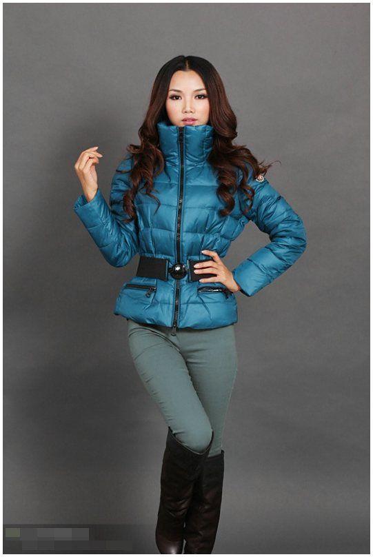 Moncler jacke reduziert - Moncler Adour Euramerican Style Belted Damen Jacken Blau Elegant