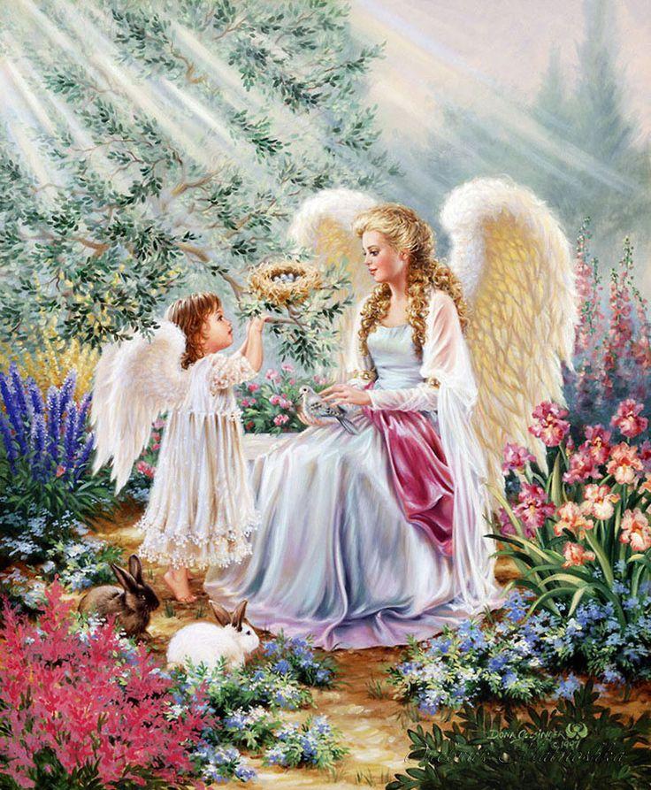 Анимационные открытки ангел, днем
