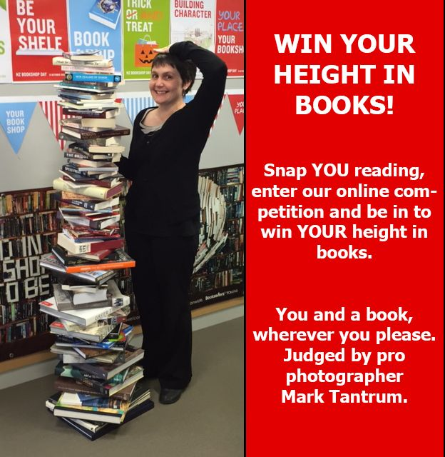 Take a photo of you reading, #snapmereading and enter this competition at: https://www.facebook.com/nzbookshopday/app_292725327421649