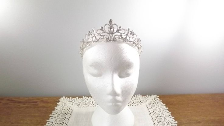 Vintage Rhinestone Tiara Hair Accessory for a Prom Pageant Maid of Honor or Bride by OutrageousVintagious on Etsy