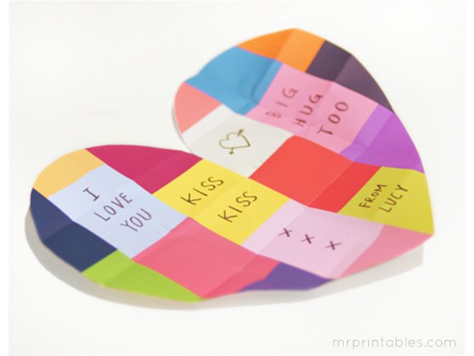 Love this free Mother's Day heart card printable!