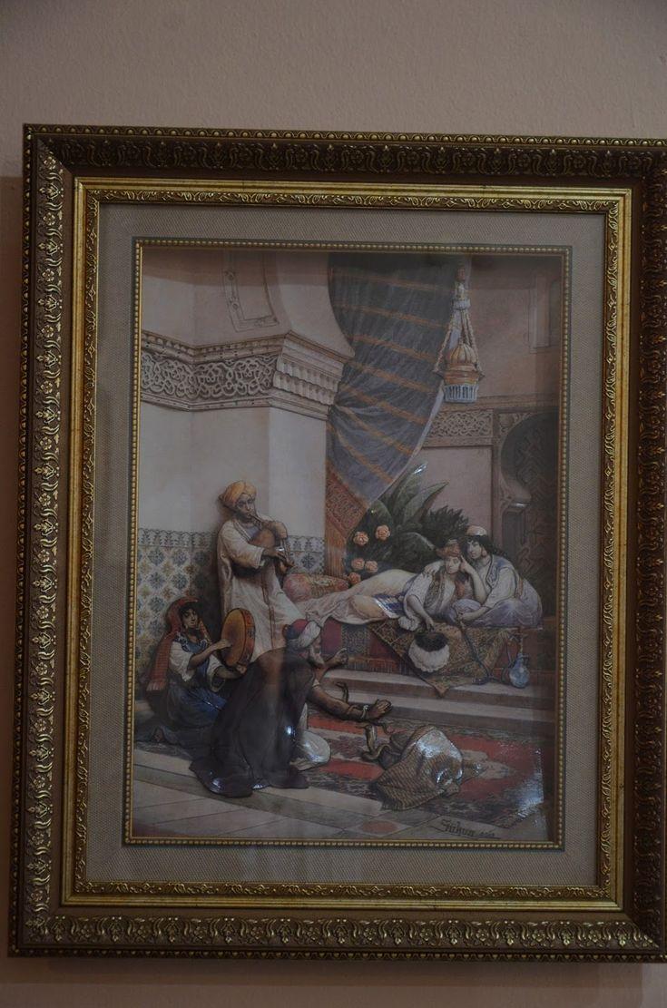 Sükun BilbanYıldız: Harem tablom,çivileme inci kolyem,pirinçten otantik takım.