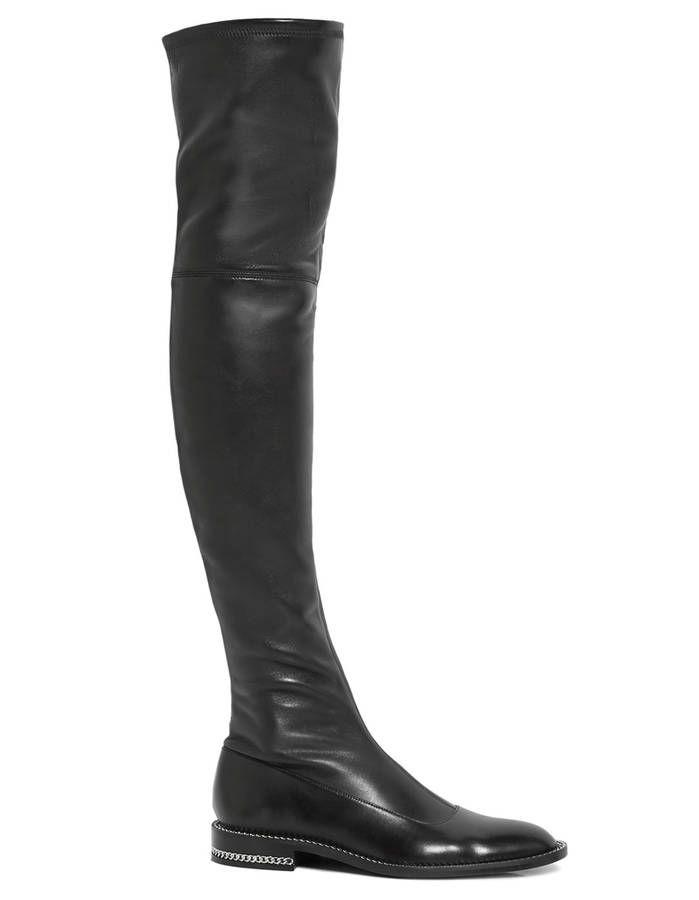 Cuissardes plates en cuir stretch / 25 cuissardes plates qui nous font une belle jambe
