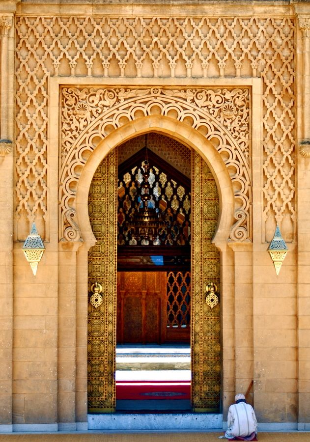 Mosque in Morocco. Ornamentaitons to make your eyes happy.