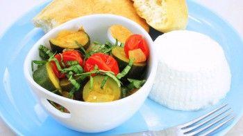 Zucchini & Tomato Mélange - chop as you go!