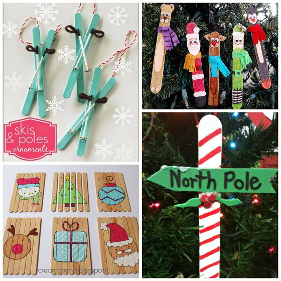 Aah…good ol' popsicle sticks. You buy the bulk box at the craft store and feel like you will have craft sticksfor the rest of your life haha! Here are some adorable Christmas popsicle stick crafts/ornaments to make and use them up. They make great gifts for parents, grandparents, etc. for the holidays (and they're cheap …