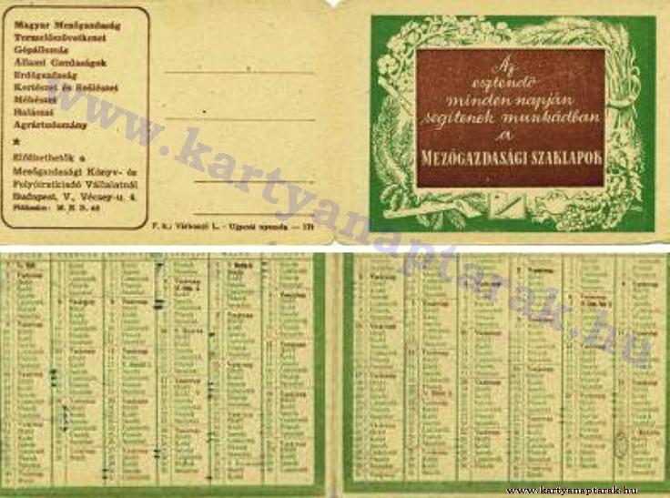 1955 - 1955_0025 - Régi magyar kártyanaptárak