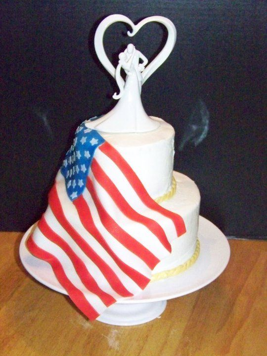 american flag wedding cake s us flag wedding cake memory of my cousin 10742