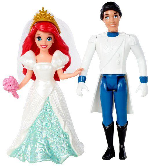 Mattel - Disney Princess - MagiClip - Ariel et le Prince Eric - 2 Mini Poupées