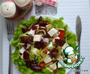 Салат со свекольным желе