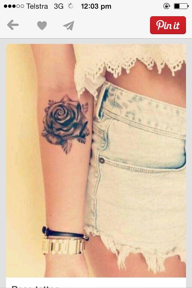 Love rose tattoos.