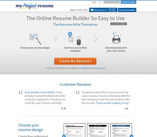 10 Online Tools To Create Impressive Resumes  My Resume Builder