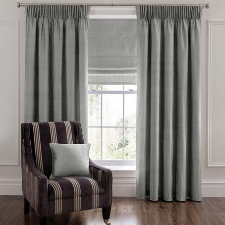 Dorma Luxurious Grey Beresford Pencil Pleat Curtains