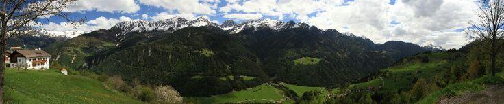 Uitzicht vanuit Fiss, Tirol, Oostenrijk