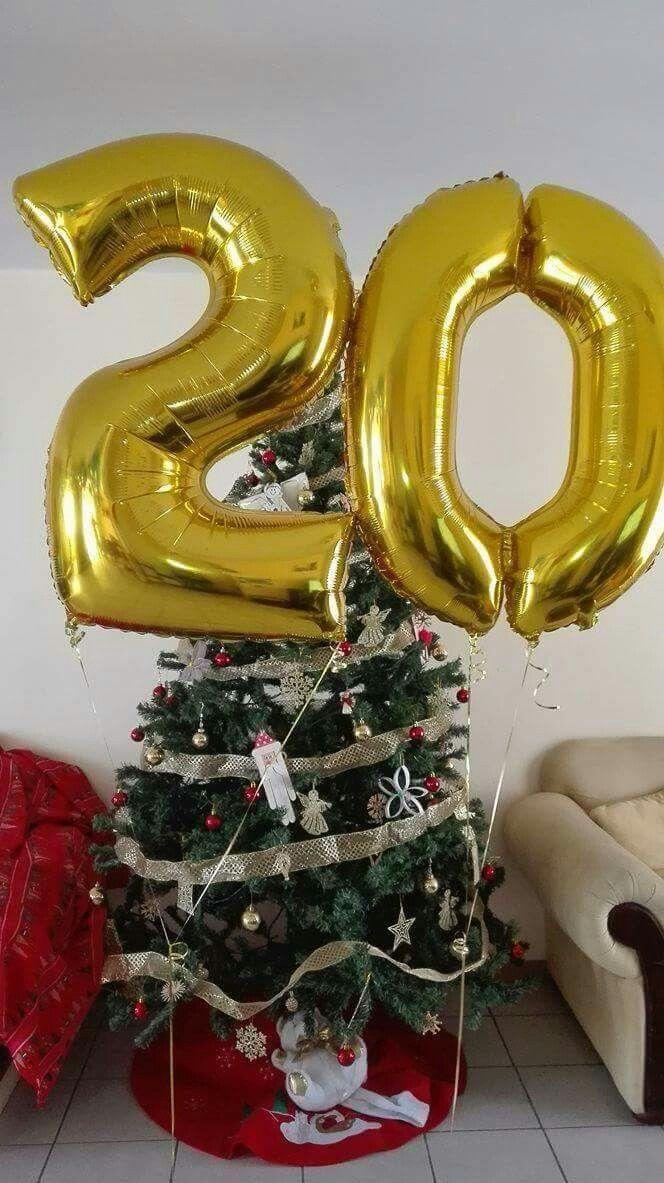 Globos de números metálicos 20 años