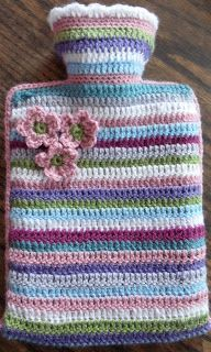 FREE Crochet Pattern on my Blog for a Hot Water Bottle Cosy