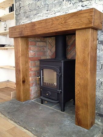 Oak Mantels and Fireplace Beams