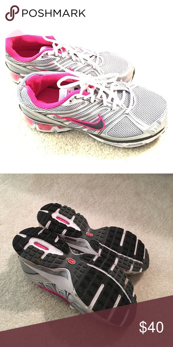 Nike Air Tailwind Running Shoes REDUCED GRAB THEM! Wore once, pink with gray & white trim Nike Shoes Sneakers