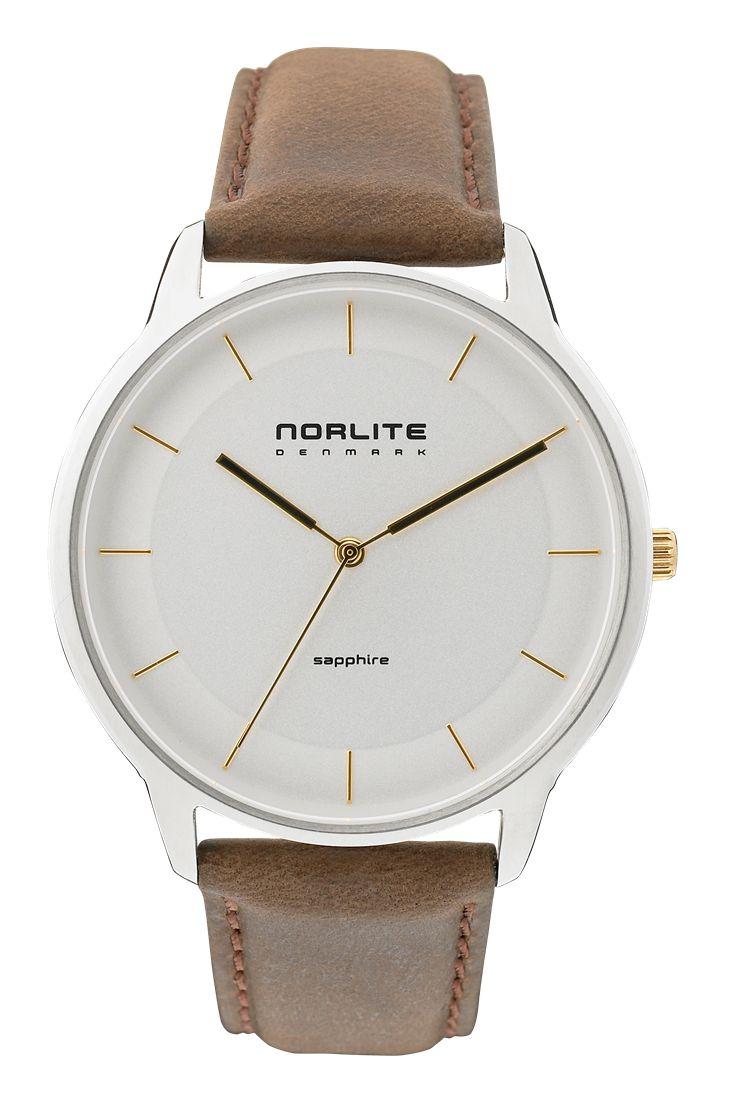 Norlite watch - White, Gold
