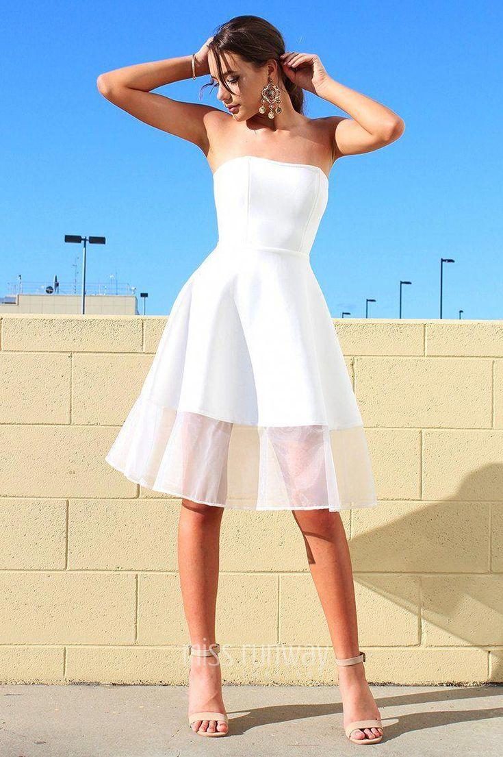 Spring Midi Dress - White #whitepartydress in 2019 | Dresses, Formal dresses australia, White semi formal dress