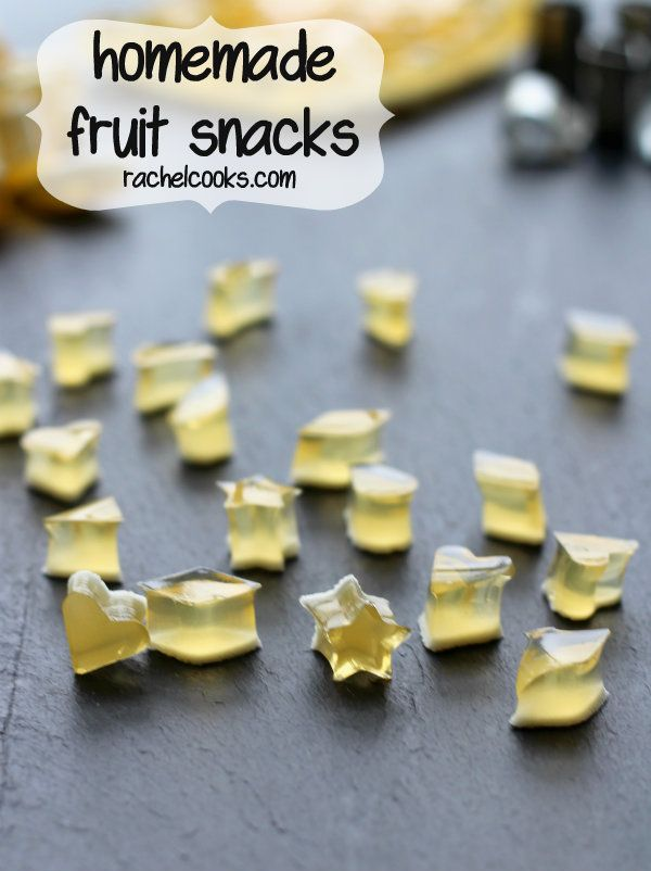 Homemade Fruit Snacks on RachelCooks.com