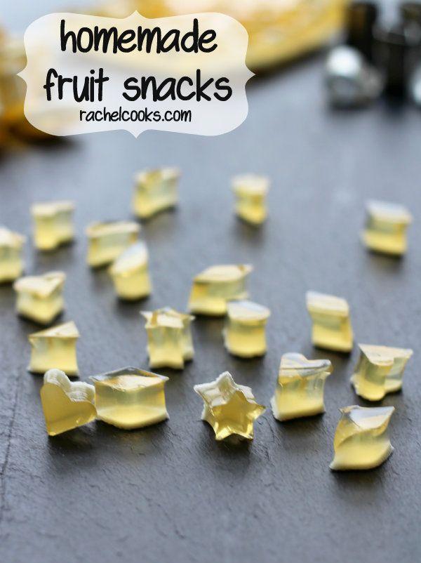 Homemade Fruit Snacks on RachelCooks.com