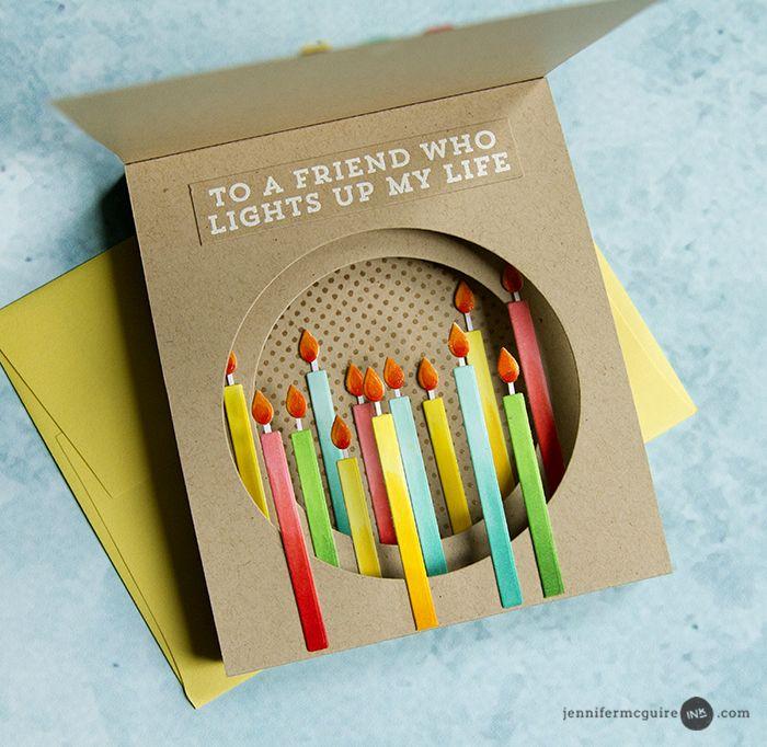 Inside Tunnel Cards Jennifer Mcguire Ink Creative Birthday Cards Birthday Cards Diy Easy Birthday Cards Diy
