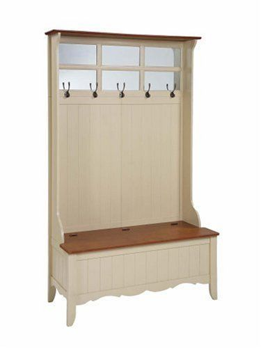 Attractive Powell French Country Hall Tree With Storage Bench, Maple/Linen By Powell  Furniture,