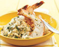 Lemon Risotto with Grilled Tiger Shrimp