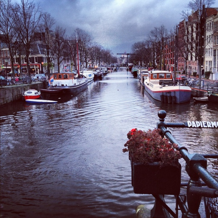#river #amsterdam #boats #dutch #clouds #photography