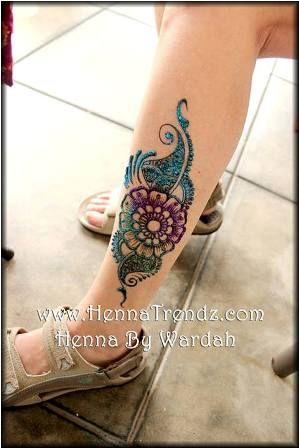 Henna flower tattoo designs, henna flower designs | Pakistani and Indian Fashion Updates