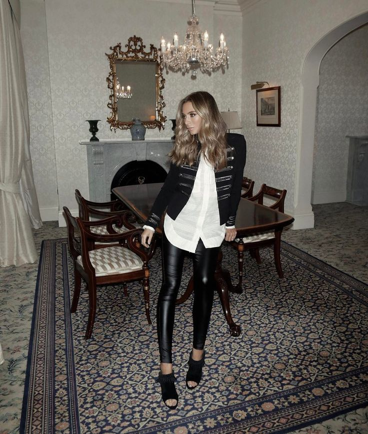 Nadia Bartel.. Witchery blazer, Aje shirt, Asilio the Label pants, and Wittner heels..