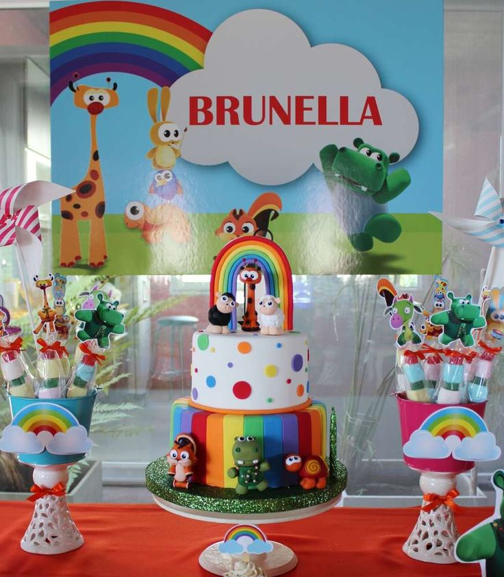 Baby TV birthday party cake and desserts! See more party planning ideas at CatchMyParty.com!
