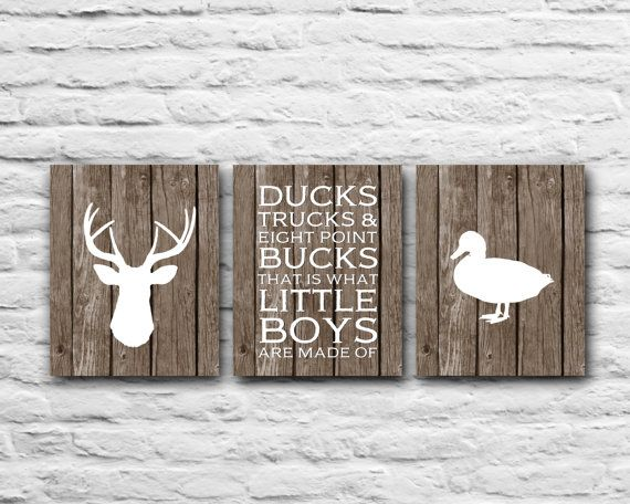 Country Boy Nursery Bedroom - Ducks Trucks Eight Point Bucks That is What Little Boys Are Made Of Western Deer Nursery Wall Art Baby Shower