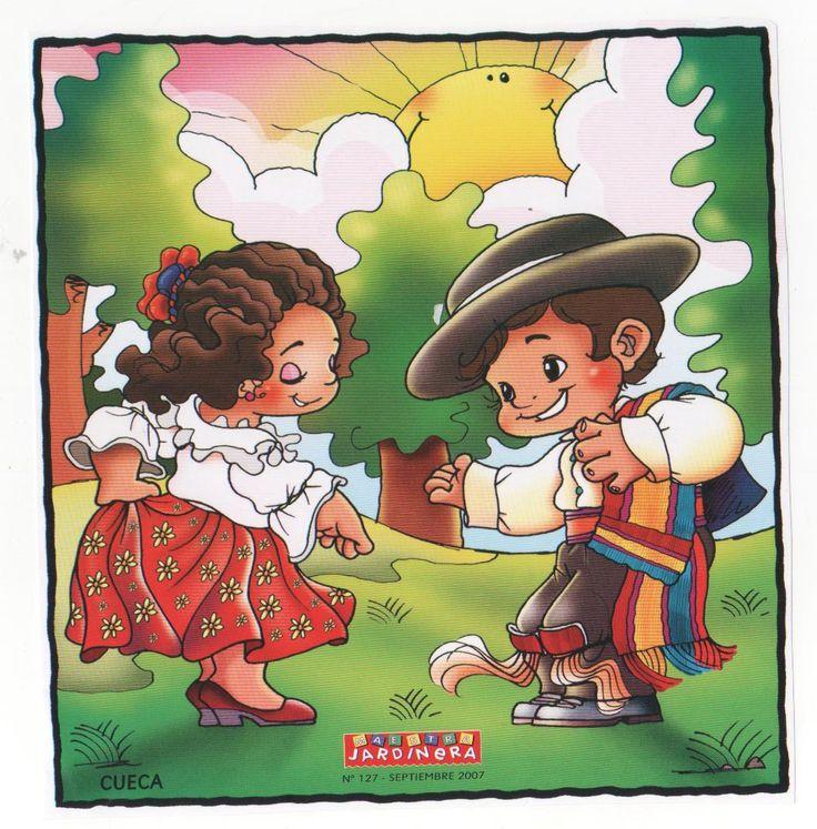 Busco Imágenes: Dibujos Bailes Chile, cueca, jota, Sau Sau, etc