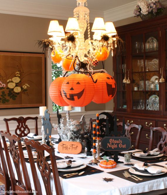 Halloween Home Decor Catalogs: Decorate Your Chandelier - Fall Decorating Ideas