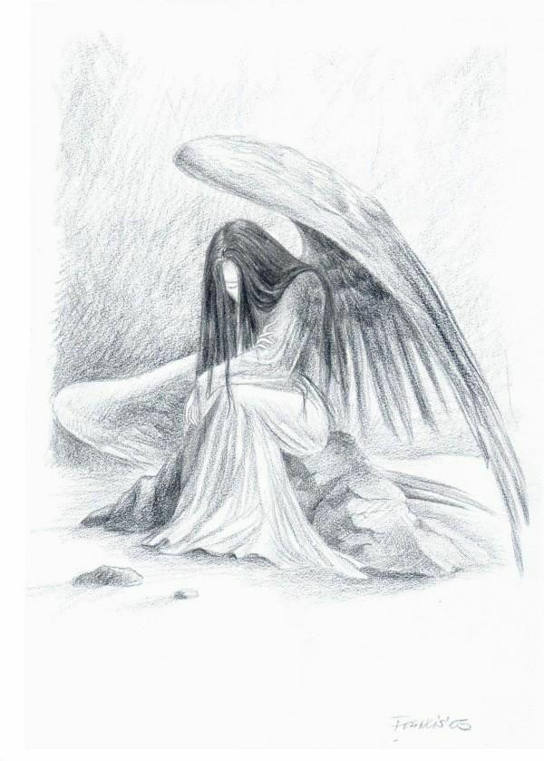 картинки ангел карандаш мулаев