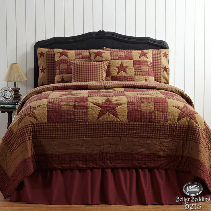 Country Rustic Western Star Twin Queen Cal King Quilt Bedding Set U0026  Accessories