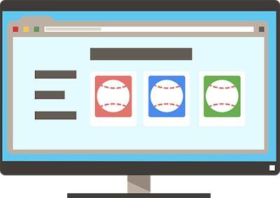 desktop showing baseball page