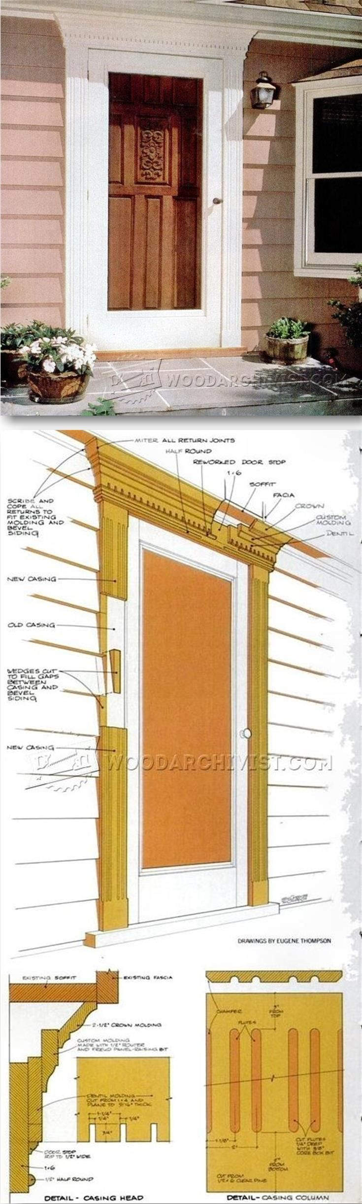 Front Door Trim - Door Construction and Techniques | WoodArchivist.com