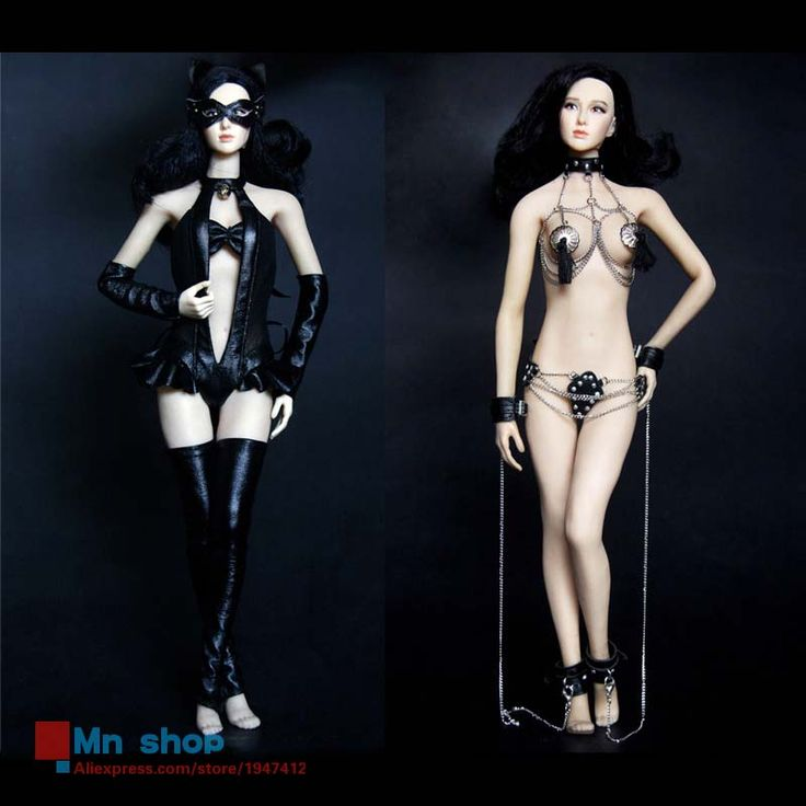 ==> [Free Shipping] Buy Best HotPlus 1/6 Cool Leather Catwoman Suit HP016 SM Chain Lingerie HP017 For Collectable Female Action Figure Phicen Doll Body Online with LOWEST Price | 32672150760