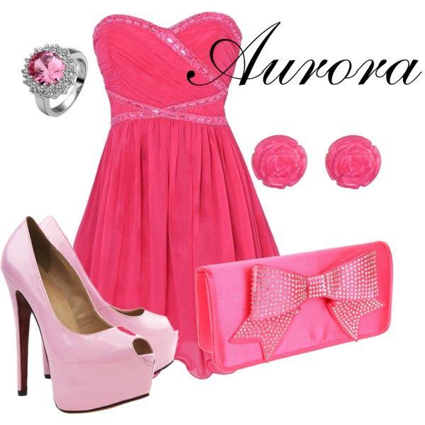 Aurora: Sleep Beautiful, Disneyfashion, Disney Princesses, Dresses, Modern Wardrobes Aurora, Pink Outfits, Aurora Outfits, Princesses Aurora, Disney Fashion