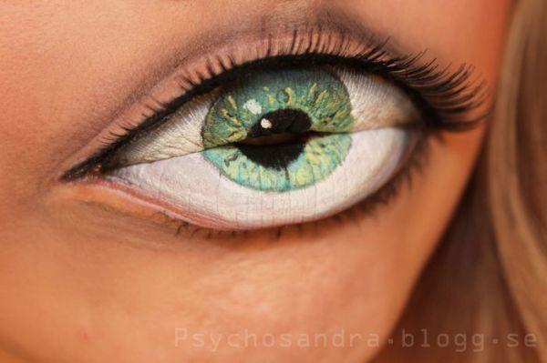 freaky makeup eye lips art