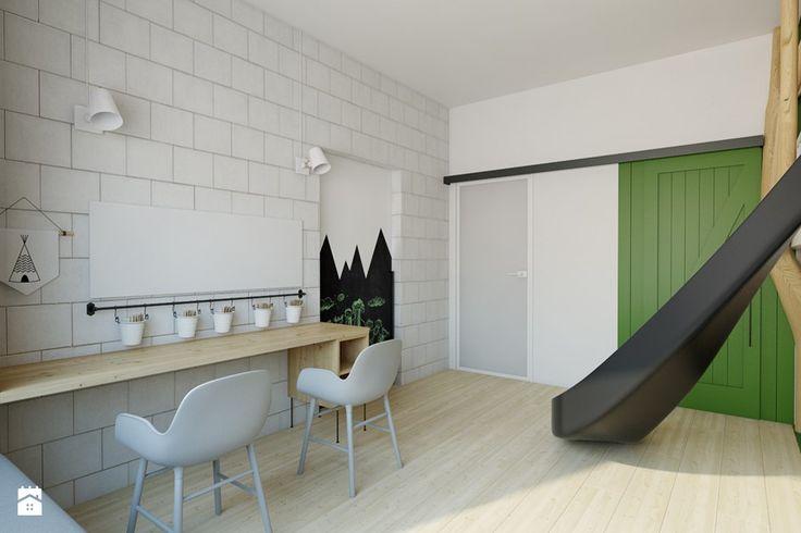 dom pasywny w Nałęczowie - Pokój dziecka, styl industrialny - zdjęcie od INSIDEarch