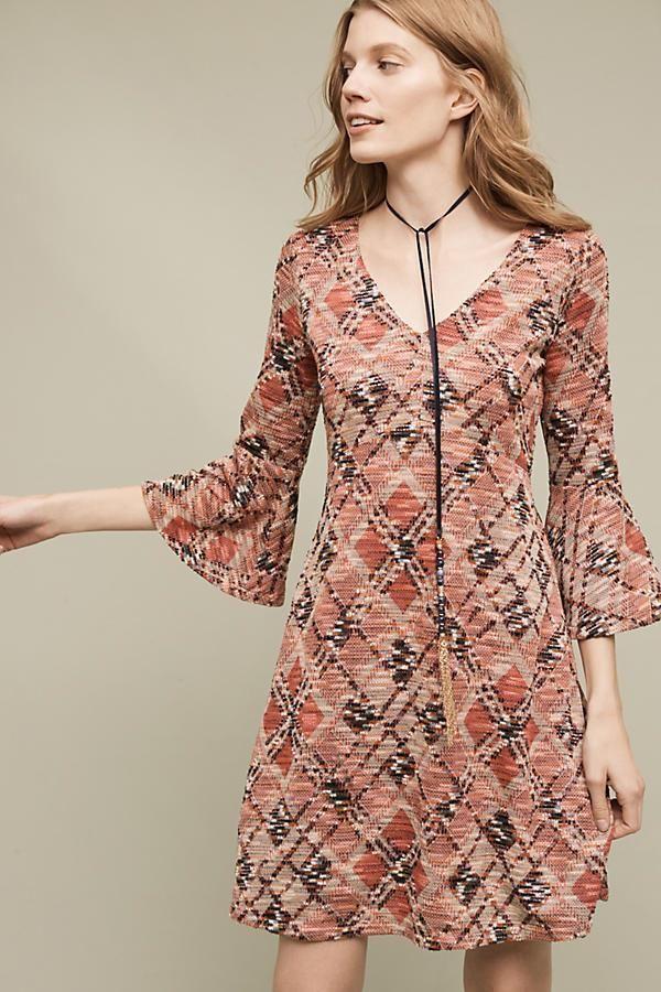 NEW Anthropologie Womens Dress Erina Swing Maeve Rose Lined V Neck Size L Large #Anthropologie #Swing #WeartoWork
